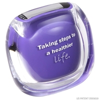 Purple Custom printed pedometer
