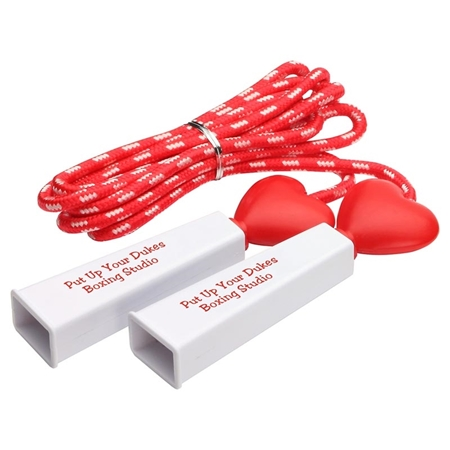 Picture of Custom Printed Heart Fitness Jump Rope - 8Ft