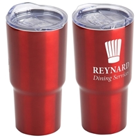Red Belmont Vacuum Insulated Stainless Steel Travel Tumbler