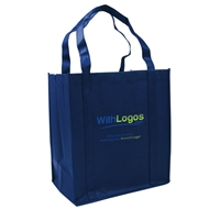 "Picture of Full Color Non-woven Grocery Tote - 12""W x 13""H x 8""D"