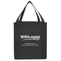 """Picture of Jumbo Non-woven Grocery Tote - 13""""W x 15""""H x 10""""D"""