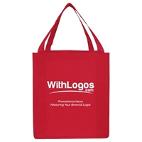 "Picture of Jumbo Non-woven Grocery Tote - 13""W x 15""H x 10""D"