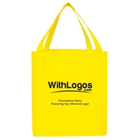 Yellow Imprinted Grocery Tote