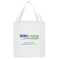 "Picture of Full Color Jumbo Non-woven Grocery Tote - 13""W x 15""H x 10""D"