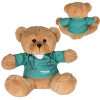 "Picture of Custom Printed 7"" Doctor or Nurse Plush Bear"