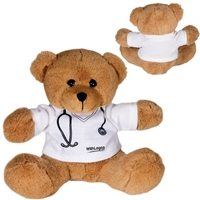 "Picture of Custom Printed 7"" Doctor or Nurse Plush Bear"