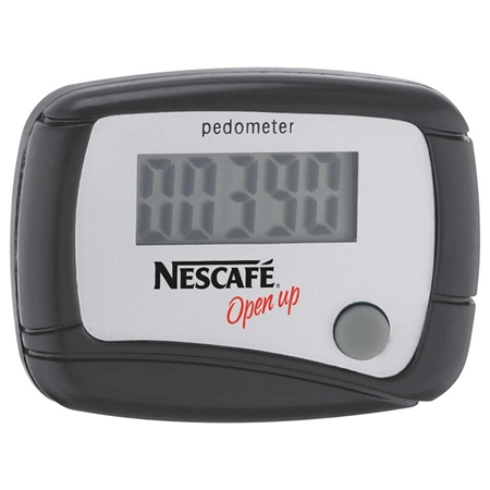 Black Custom pedometer