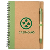 Picture of Custom Printed Eco Spiral Notebook and Pen
