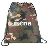 Picture of Custom Printed Camo Oriole Drawstring Cinch Backpack