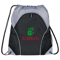 Picture of Custom Printed Marathon Drawstring Cinch Backpack