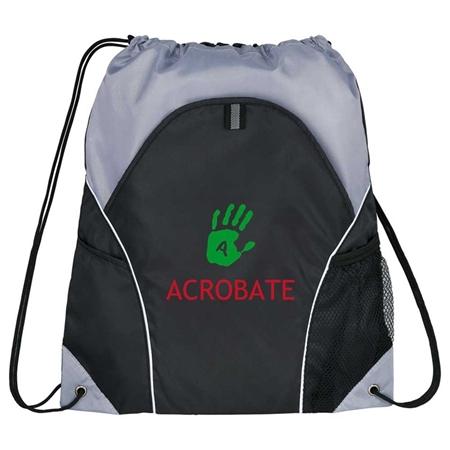Picture of Custom Printed Marathon Drawstring Cinch Backpack