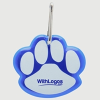 Customized Paw Shaped Reflective Collar Tag
