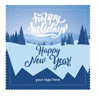 Snowy Holiday Microfiber Cloth Card