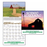 Picture of Custom Printed Scenic Almanac Calendar