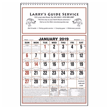 Picture of Custom Printed Large Almanac Calendar