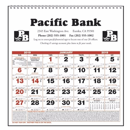 Imprinted Calendar