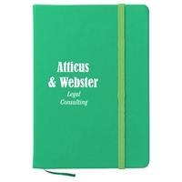 Imprinted Green 5 x 7 Notebook