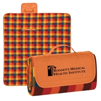 Business Logo Roll Up Picnic Blankets