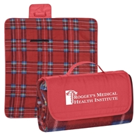 Promotional Logo Printed Roll Up Picnic Blankets