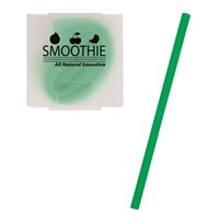 Custom Silicone Straw - Green