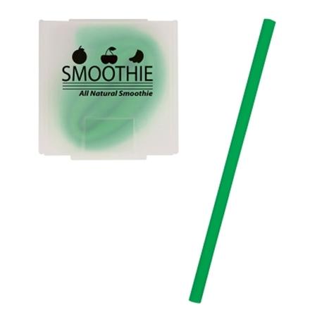 Custom Silicone Straw - Green