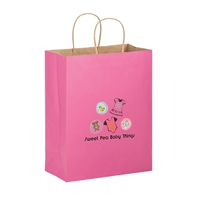 Picture of Full Color Matte Paper Bag 8x4.75x10.5