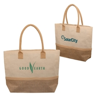Picture of Laminated Jute & Canvas Tote