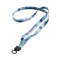 "Picture of 1/2"" Lanyard with Plastic Clamshell and Plastic O-Ring"