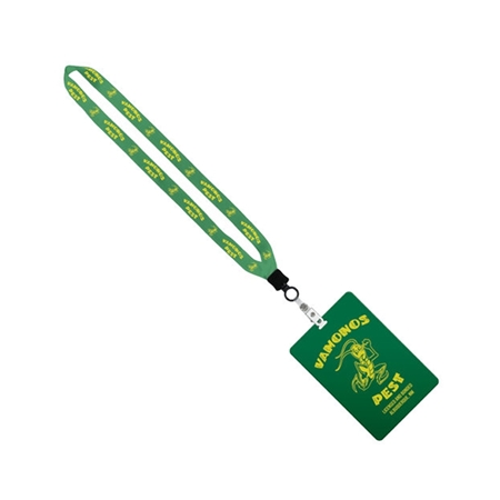 """Picture of 3/4"""" Lanyard with 4"""" x 6"""" ID Badge"""