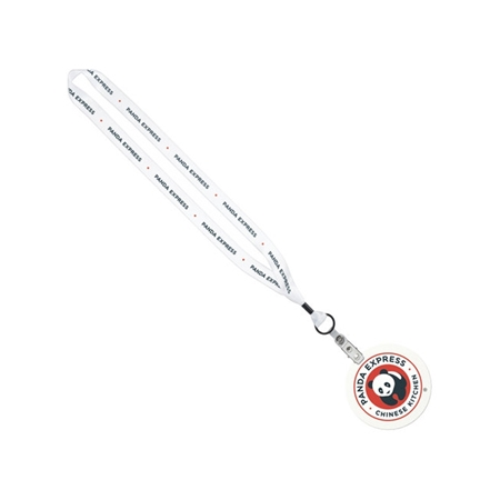 "Picture of 3/4""  Lanyard with 4"" Round ID Badge"