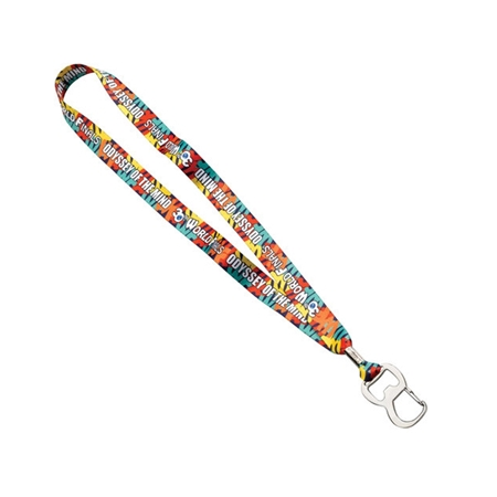 "Picture of 3/4"" Lanyard with Metal Crimp and Metal Bottle Opener"
