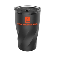Picture of Custom 14 oz Black Stainless Steel Twisting Tumbler