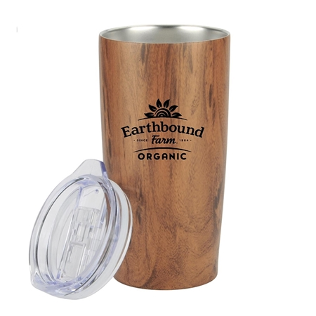 Picture of Custom 20 oz Wood Tone Stainless Steel Tumbler