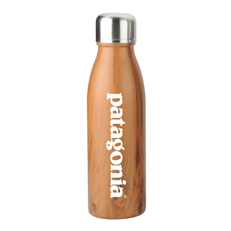 Picture of Custom 20 oz Wood Tone Stainless Steel Cola Bottle