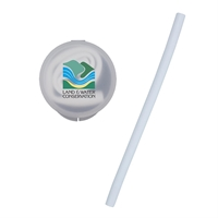 Silicone Straw with Branded Case