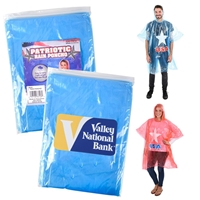 Picture of Custom Patriotic Rain Poncho