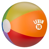 "Picture of Custom 16"" Rainbow Beach Ball"