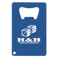 Credit Card Shaped Bottle Opener with Logo