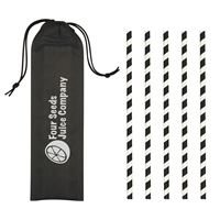 Picture of Custom 5 Pack Paper Straws in Pouch