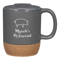 Custom Cork Mug - Gray