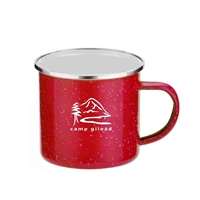Custom Imprinted 16 oz. Red Iron & Stainless Steel Camping Mug