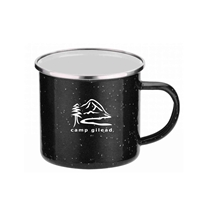 Promotional 16 oz. Black Iron & Stainless Steel Camping Mug