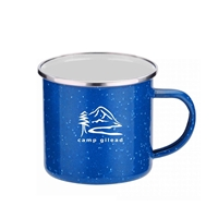 16 oz. Blue Iron & Stainless Steel Camping Mug