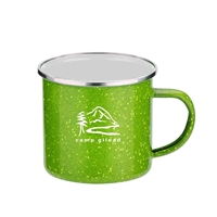 Custom 16 oz. Iron & Stainless Steel Camping Mug in Green