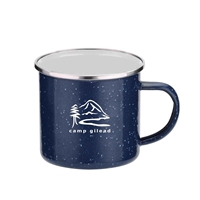Promotional 16 oz. Iron & Stainless Steel Camping Mug in Navy