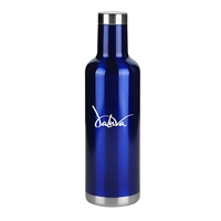 Custom Blue 25. oz. Stainless Steel Wine Bottle