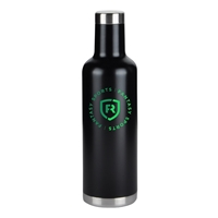 Custom Imprinted Black 25. oz. Stainless Steel Wine Bottle