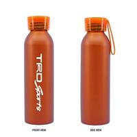Custom Imprinted Orange 20 oz. Aluminum Bottle with Silicone Carrying Strap