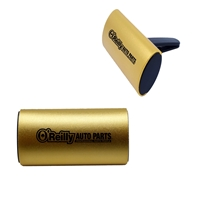 Custom Imprinted Clip Air Freshener with Aluminum Cover in Gold