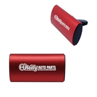 Promotional Clip Air Freshener with Aluminum Cover in Red